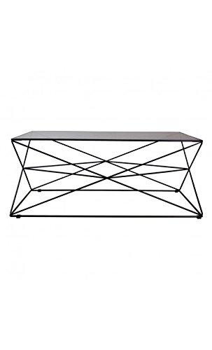 CAMINO A CASA - Table Basse Design Verre et Acier Noir Prize