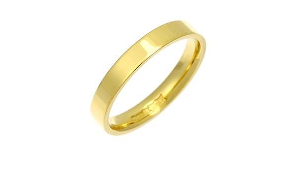 18ct Yellow Gold Heavy Weight Flat Shaped Wedding Band