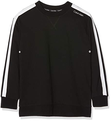 Calvin Klein Jungen Sweatshirt, Schwarz (Black 001), 140 (Herstellergröße: 8-10) (Hemd Jungen Calvin Klein)