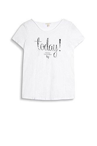 Esprit 037ee1k029, T-Shirt Femme Blanc (White 2)