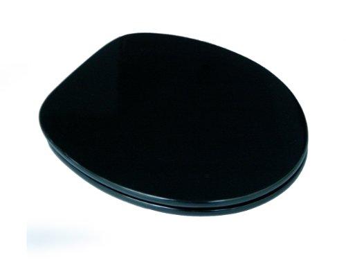 ADOB WC Sitz Klobrille in Modern Shape Form, stylisch mit glatten Kanten, schwarz, 87101