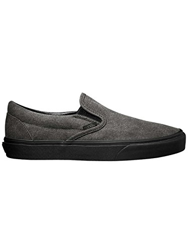 Vans U CLassic SLip-On Stivaletti, Unisex Adulti Nero ((washed) black/black)