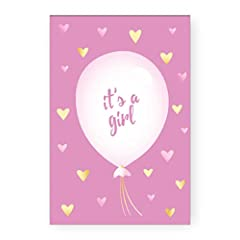 Idea Regalo - Biglietto Auguri Nascita It's a Girl