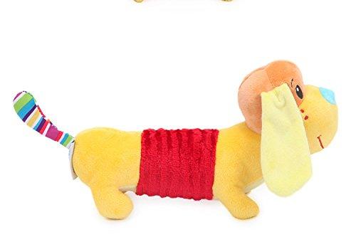 Ari_Mao Cartoon Hund Spielzeug Haustier Plüsch Quietschende Spielzeug Welpen Molaren Spielzeug für Interaktive Hund (Gelb)