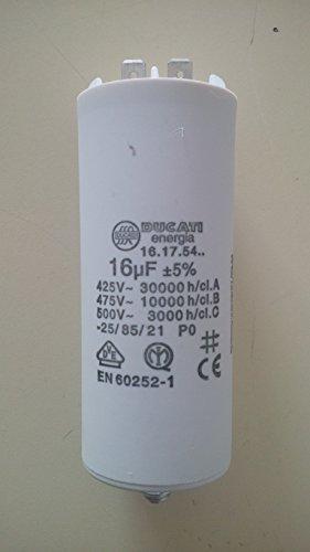 Motorkondensator / Betriebskondensator 16µF 16uF 400V