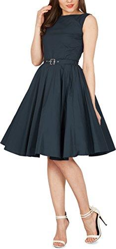 Black Butterfly 'Audrey' Vestido Vintage De Los Años 50 Clarity (Azul