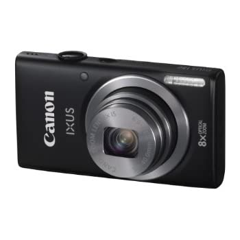 Canon IXUS 132 Digital Camera - Black (16MP, 28mm Wide Angle, Eco Mode, 8x Optical Zoom) 2.7 inch LCD