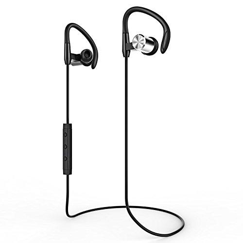 LOPOO Bluetooth 4.1 Kopfhörer Sport Wireless Headset mit Magneten Mic für Apple IOS / Android / iPad und Tablets Bluetooth-Fähigen Geräten ( Schwarz )