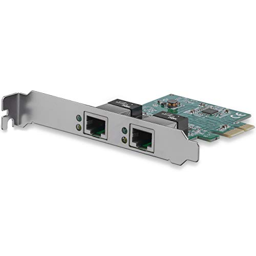 StarTech.com ST1000SPEXD4 - Tarjeta de Red Nic PCI Express PCI-E de 2 Puertos, 2X RJ45