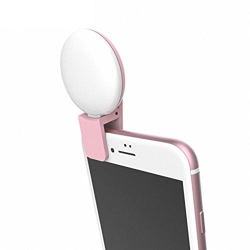 Selfie Luce, USAMS Portatile LED Esterno Supplementare di Illuminazione Notturna con 3 Livelli di Luminosità per iPhone Samsung HTC Huawei iPad LG e Altri Smartphone