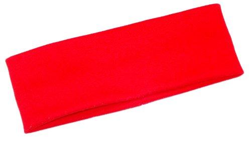 mein-name Kinder Stirnband rot ab 5 Jahre aus Baumwolle für Mädchen und Junge als Ohrenwärmer oder Haarband für den Winter als Schutz Unisex als Herbst und Winterstirnband in vielen Farben