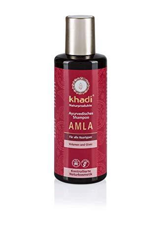 khadi Ayurvedisches Shampoo Amla 210ml I natürliches Haarshampoo für Volumen und Glanz I Naturkosmetik 100% pflanzlich - Amla Haar öl