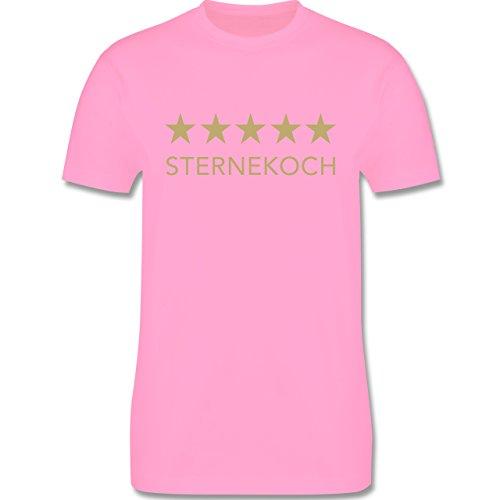 Küche - 5 Sterne Sternekoch - Herren Premium T-Shirt Rosa