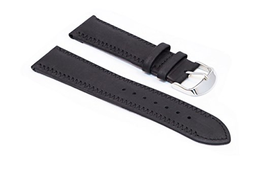 watchassassin-rubberized-suede-black-watch-strap-with-zigzag-stitch-24mm