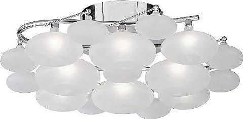 Searchlight Dulcie 8 Light with glass pebble shades (chrome, 8408-8CC)