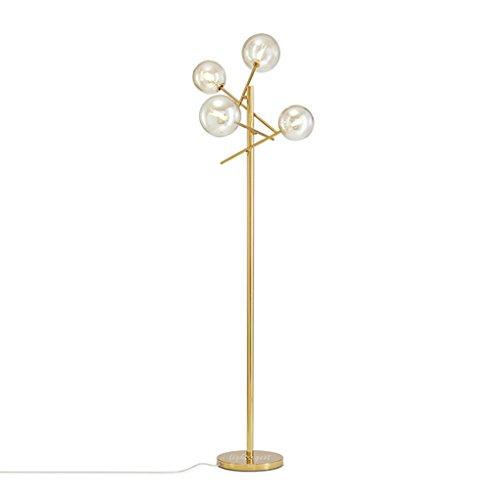 LILY Post-Modern verstellbare Winkel Metall Stehlampe, Mode Glaskugel Design, Wohnzimmer Schlafzimmer Stehlampe, H155cm (Mode-design Für Wohnzimmer)