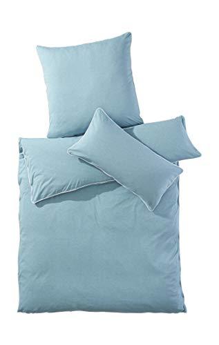 hessnatur Jersey-Bettwäsche Liam aus Reiner Bio-Baumwolle smaragd 135x200+40x80 cm