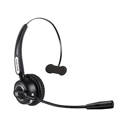 ZJH Telefon-Headset, drahtloses Einohr-Telefon-Headset mit Bluetooth, für Bürotelefone, für Telefonverkauf, Versicherung, Krankenhäuser, Telekommunikationsbetreiber