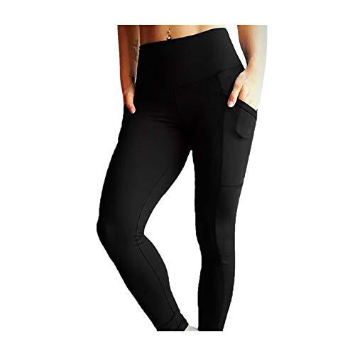 Dorical Damen Hohe Taille Mode Einfarbig Yoga Fitness Leggings Lauf Gym Stretch Sport Hosen Hosen Abstand