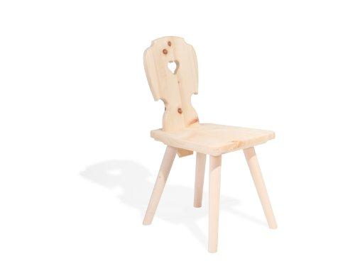 Kinderstuhl aus Zirbenholz Handgemacht in Südtirol