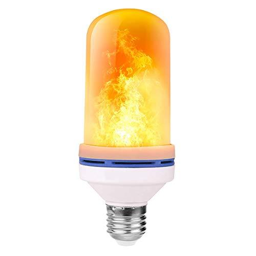 Flammen Lampe,Flamme Glühbirne,3 Beleuchtungsmodi Indoor/Outdoor dekorative Lichter für Halloween/Weihnachten (4W E27 Base) (1PCS)