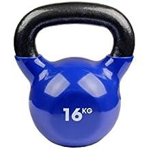 Fitness Mad Kettlebell  - Pesa rusa de ejercicio y fitness, color azul, peso 16 kg