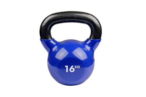 Fitness Mad Kettlebell  - Pesa rusa de ejercicio y fitness, color azul