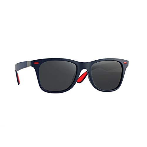 Yncc Herren Damen Brille Klassische Überbrille Mode polarisierten Sonnenbrillen Outdoor-Reitbrille Sport-Sonnenbrille Big Frame Sonnenbrille Eyewear Retro Brille Metallbordüre Adult Anti-UV (D)