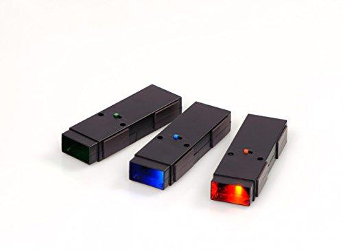 Preisvergleich Produktbild Betzold LED-Strahler, 3er Satz (rot, grün und blau) - Farbstrahler Taschenlampen für Optik und Farbmischung Sachkunde-Unterricht Physik Lehrmittel Schule Kinder Gradmessung Lichtbrechung