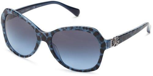 Dolce & Gabbana Für Frau 4163p Leopard Blue / Blue To Grey Kunststoffgestell Sonnenbrillen (Gabbana Leopard Dolce)