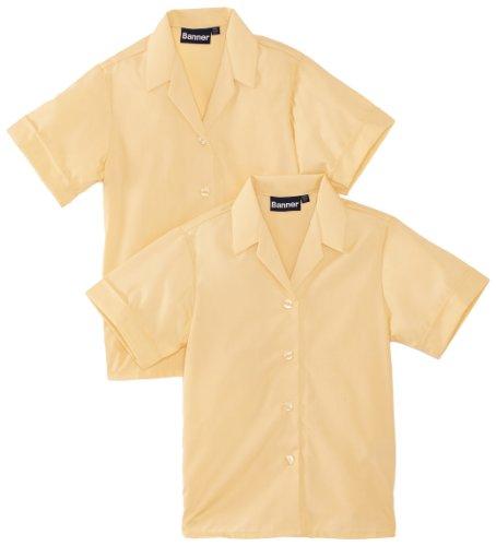 "BlUE Max Banner Revere Twin Pack Short Sleeve School Camicetta, Bambine e Ragazze, Marrone (Braun), 48"" Chest"