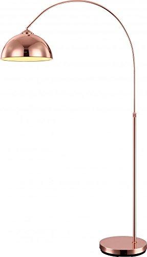 LED 10 Watt Bogen Steh Lampe Schalter Kupfer höhenverstellbar Wohnzimmer Leuchte