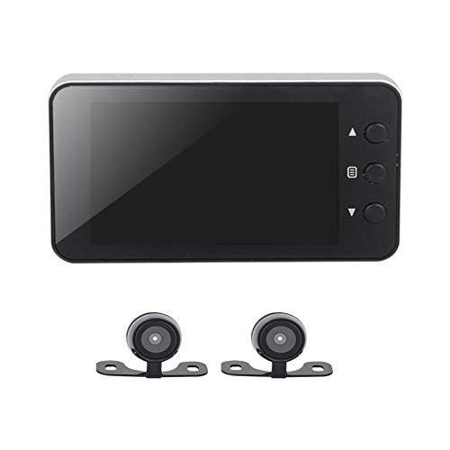 Kbsin212 Motorrad Kamera Motorcycle 1080P Dual-Lens Video Rekorder, Motorrad Dash Cam Sport Action Kamera, 140 Grad Winkel Night Vision