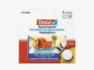 Tesa Tesa Teppichgleiter rund, 8 x 22 mm weiß 57702-00006 -