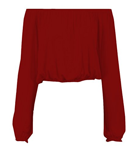 Fashion Lovers Damen Lamarmshirt Rot - Weinfarben