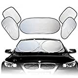 #8: Nikavi Car Sun Shade Windshield Window Shade Protector 6 Piece , Extra Large 55