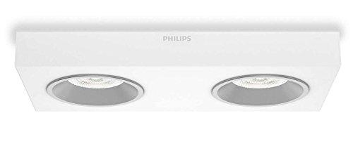 Philips InStyle Quine - Plafón con 2 focos, corriente alterna, LED, metal,...