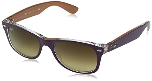 Ray-Ban RB2132 New Wayfarer Sonnenbrille 55 mm, Top Matte Violet On Orange, 55 mm