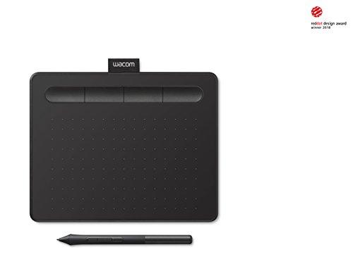 Wacom Intuos S Schwarz Stift-Tablett – Mobiles Zeichentablett Zum Malen & für Fotobearbeitung mit druckempfindlichem 4K Stift – Kompatibel mit Windows & Mac