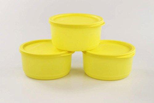 TUPPERWARE Kühlschrank Geburtstagskracher rund 530 ml gelb (3) Frischebehälter