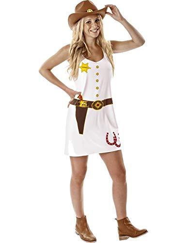 Ladies Cowgirl Cowboy Western Wild West Fancy Dress Costume Medium