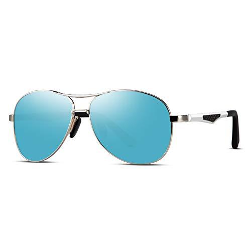 WELUK Pilotenbrille Sonnenbrille für Herren Polarisierte Verspiegelte Retrostil Militärbrillen...
