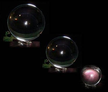 10cm cristal bola de cristal con cristal soporte Excelente calidad y l