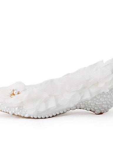 WSS 2016 Chaussures de mariage-Blanc-Mariage / Habillé / Soirée & Evénement-Compensées-Talons-Homme under 1in-us5 / eu35 / uk3 / cn34