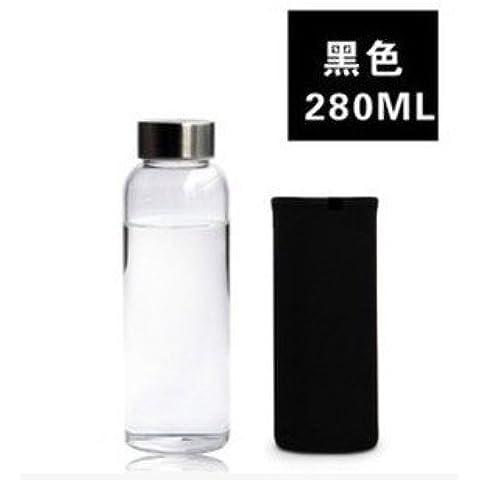 Vetro trasparente ciotola con il coperchio tazze di tenuta stagna di creative di grande capacità bottiglie acqua tazze ,258