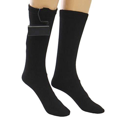 VOSAREA Beheizte elektrische warme thermische Boot-Socken, wiederaufladbare batteriebetriebene Winter-Fußwärmer , Winter-Heizung Sox chronisch Füße -