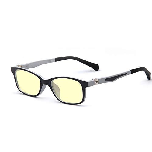Verlieben Sie sich in das Reiten Kinder Anti-Blaue Brille Männer Und Frauen Strahlenschutz Augen Anti-Computer-Brille Myopie-Spiel Flachen Spiegel (Farbe : Schwarz)