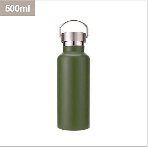 Vakuum Sport Cup Reise Outdoor Flasche Sport Pot Double Layer Edelstahl Isolierung Cups ( Color : Green ) (Double-layer-regenbogen)