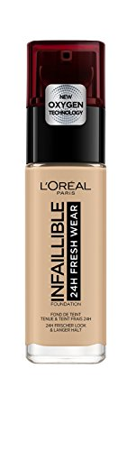 L'Oréal Paris Fondotinta Liquido Coprente Infaillible Lunga Tenuta 24H, Formula Waterproof Idratante, 120 Vanille