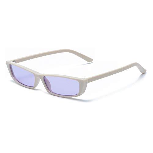 yuyu19 Sonnenbrille Unisex Polarisierte Retro Fahren Metall Rahme Ultra Leicht Sportbrille,Beige Gestell Ozean Lila